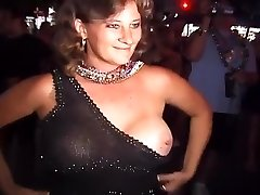 Naughty Party Girls Flash Their Bra-stuffers