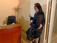 Busty secretary Jasmin sates her chief