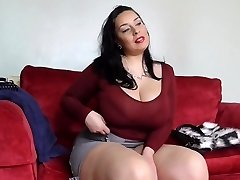 Big sex bomb mother with bushy British bawdy cleft