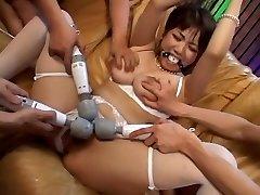 Najhorúcejšie Japonský kuriatko Meguru Kosaka v Exotických Veľké Prsia, BDSM JAVA-film