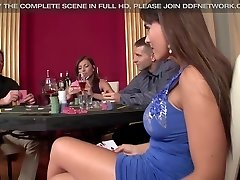 2 casino Call Girls get Double Penetrated and Gag on schlong