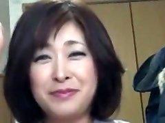 Japonský Bacuľaté Zrelé Creampie Sayo Akagi 51years