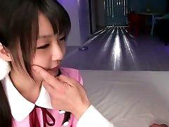 Neuveriteľné Japonská dievča v nádhernej JAVA-cenzurované Prsteň, Malé Prsia film