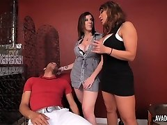 PornstarPlatinum - Ava Devine and Sarah Jay with youthfull dude