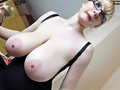 Saggy Boobs and a blonde Thicket