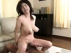 Wife with ginormous saggy boobs hairy cunt