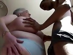 Huge Boobied Grandma Tries Dark Chocolate