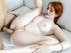 BraceFaced - Barely Legal Ginger Teen Bounces On a Large Cock