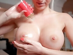 My highly first titjob! Did you like it? POV titfuck
