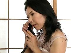 יפנית שרירים milf זין