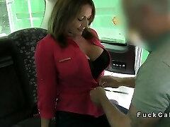 שמנמן מפותחת חובב אנאלי חופשת מזויף מונית בציבור