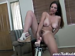 Blackmailed Step-Sister Mindi Mink On A Plowing Machine