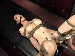 Natalie tied and machine pulverized