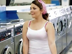 ExxxtraSmall - Petite Legal Age Teenager Drilled in Laundromat