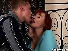 Sexually Excited granny acquires fisted and breast pounded