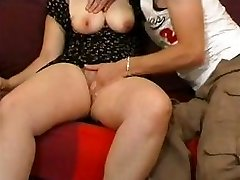 Unexperienced couple with busty blonde gets fisted and fucked hard