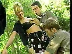 two italian police officers shagging a prisoner in outdoor