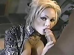Old-school MILF Houston sucking knob!