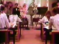 Teacher nails in front of roomful of Catholic Schoolgirls!
