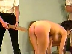 2 dominatrixes spank & strap huge-titted girl (Part 3)