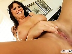 Mandy lose some weight and is looking very super-hot. She makes her way to MILFThing in a black obession dress. This video is historic from crazy fisting to double vaginal  squirting and more