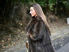 exhibitionist: bare under luxe wool coat & vintage garterbelt