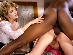 Barbarella, Moana Pozzi, Sean Michaels in well-draped black retro porn star doing latin dolls