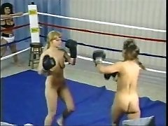 Vintage Without Bra Boxing Fight