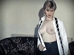 Hot groove - vintage british schoolgirl de-robe dance