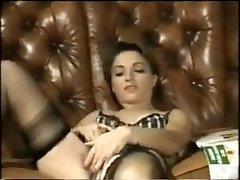 Fabulous homemade Dildos/Fucktoys, Stockings sex video