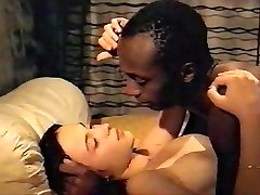 Brunette white nymph with black lover - Softcore Bi-racial