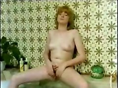 Young blonde in different clips posing and deepthroating cock for a load