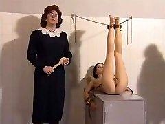 Georgina Lewis slapped in film Mansion detention 3