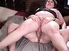 Grandmother asshole sit on penis