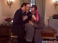 German Cougar Boss fucked in Office
