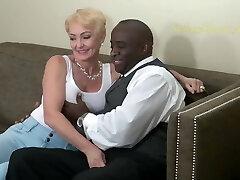 Blonde Sex Addict Fucks Black Man Hard. Classic