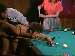 Pool table is ample enough to fuck two