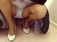 Cotton Panties With Tan Stockings