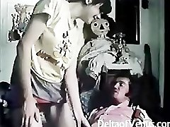 Vintage Hairy French Teen Gal Has Sex
