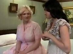 Vintage lingerie lesbian lovers