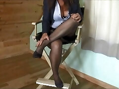 Blair Teases Dressed In Simply Classic Brand RHT Nylons