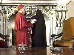 Retro Blowjob Creampie with Nun