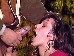 Old School French Myriel Outdoor DP. Amazing Facial To Finish!!