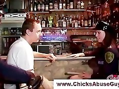 Mischievous femdom police hotties