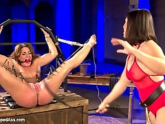 Lea Lexis and Savannah Fox have great chemistry in this erotic dungeon update. Savannah Fox can't control her squirting orgasms and Lea Lexis's ice cold, sexy as hell domination put Savannah into deep submission! Not to be missed!