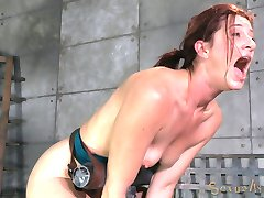 Cici Rhodes thinks she can handle it all. Wait until you see the look of shock on her face when Jack Hammer pushes 10 inches of Big Black Cock into her tight little asshole. It's so deep inside of her it threatens to start poking out of her mouth. That's why we have another cock to cram down her throat at the same time. We spit roast her through some of the best orgasms she's ever had.