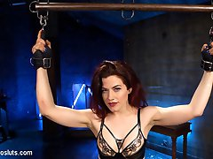 When Ingrid Mouth confesses her porn crush on Goddess Aiden Starr, she's assigned multiple tasks to please her mistress including predicament bondage, the zapper, electro anal plug, electrified dildo, copper wire connected to e-stim unit, ass and pussy licking, first time pussy fisting, lesbian scissoring and the cattle prod!