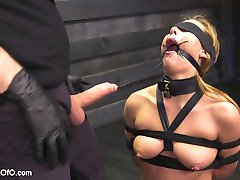 Carter Cruise is back for her dose of hardcore sex, bondage and discipline on Training of O. Tommy Pistol welcomes Carter back with a leather bound sloppy blow job featuring a nasty spider gag that spills drool all over Carter's tied tits. Nice pierced nipples, Carter!When it is time to give up her submissive pussy, Tommy makes Carter work for the dick while she is tied in tight bondage. Great shoot, thank you Cater and Tommy!
