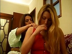 Ana Paula Melo & Cristina Junior - Portuguese envious housewive hit down by a hooker.