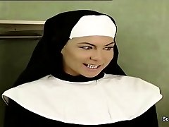 German Nun Seduce to Bang by Prister in Classic Porn Movie